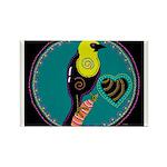 yellow-headed blackbird Rectangle Magnet (100 pack
