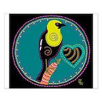 yellow-headed blackbird Small Poster