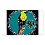 yellow-headed blackbird Rectangle Sticker