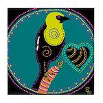 yellow-headed blackbird Tile Coaster