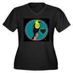 yellow-headed blackbird Women's Plus Size V-Neck D