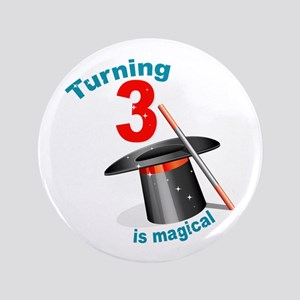 "3rd Birthday Magic 3.5"" Button"