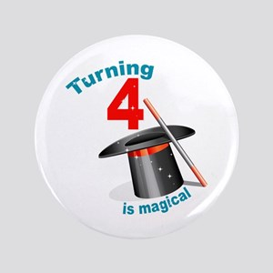 "4th Birthday Magic Show 3.5"" Button"