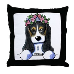 Pkt. Basset Hound Throw Pillow