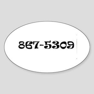 867-5309 Jenny Oval Sticker