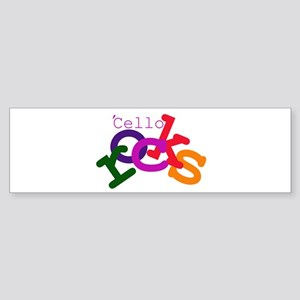 'Cello Rocks Bumper Sticker