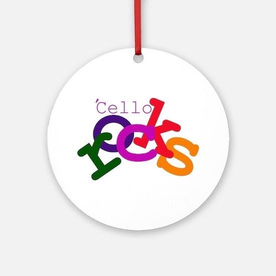 'Cello Rocks Ornament (Round)