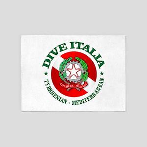 Dive Italia 5'x7'Area Rug