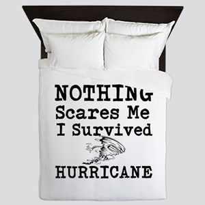 Nothing Scares Me I Survived Hurricane Queen Duvet