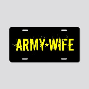 U.S. Army: Wife (Black & Go Aluminum License Plate