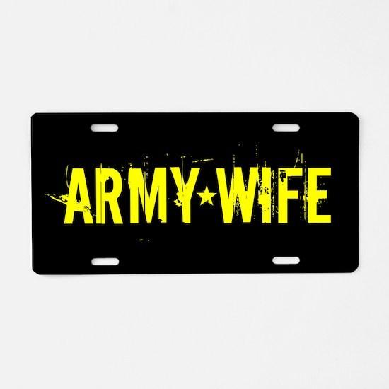 U.S. Army: Wife (Black & Go Aluminum License Plate