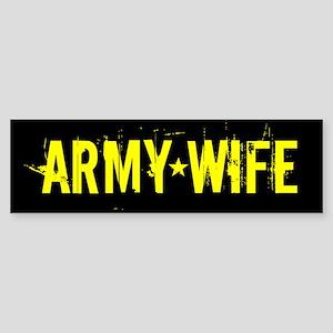 U.S. Army: Wife (Black & Gold) Sticker (Bumper)