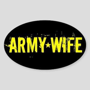 U.S. Army: Wife (Black & Gold) Sticker (Oval)