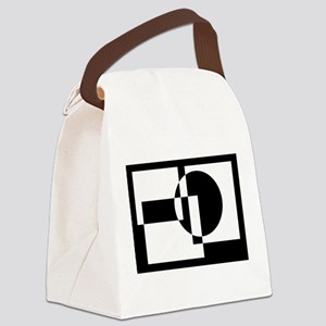 Squares And Circle Design #9 Canvas Lunch Bag