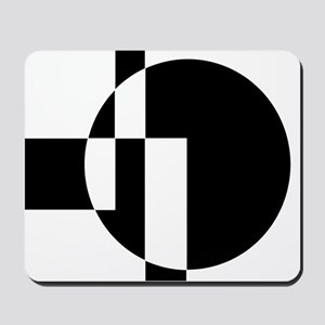 Squares And Circle Design #9 Mousepad