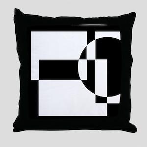 Squares And Circle Design #9 Throw Pillow