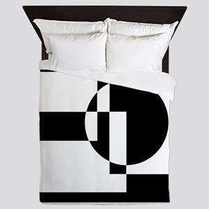 Squares And Circle Design #9 Queen Duvet