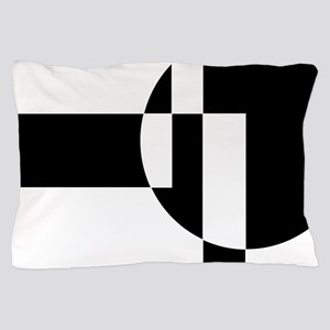 Squares And Circle Design #9 Pillow Case