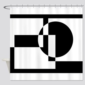 Squares And Circle Design #9 Shower Curtain