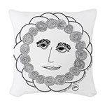 Wise Rose Woven Throw Pillow