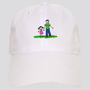 Father and Daughter (Black Hair) Baseball Cap