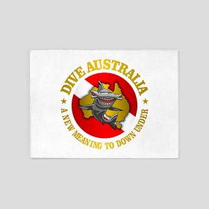 Dive Australia (hammerhead) 5'x7'Area Rug
