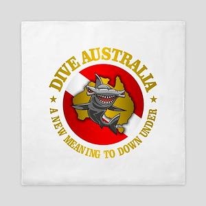 Dive Australia (hammerhead) Queen Duvet