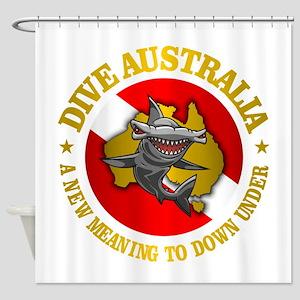 Dive Australia (hammerhead) Shower Curtain