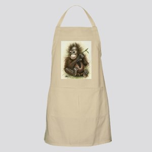 Orangutan Baby With Leaves Apron
