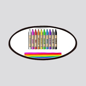 Rainbow Crayon Patches