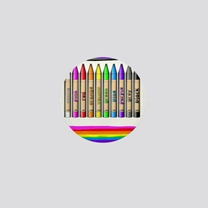 Rainbow Crayon Mini Button