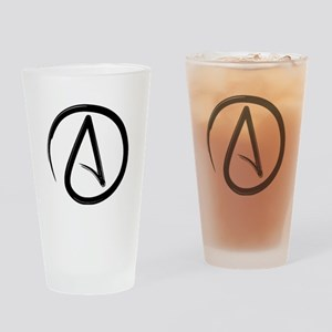 Atheist Symbol Drinking Glass