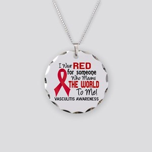 Vasculitis MeansWorldToMe2 Necklace Circle Charm