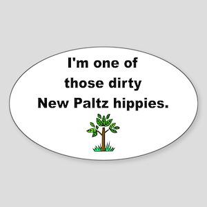 Dirty Hippie Oval Sticker