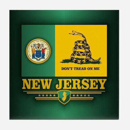 New Jersey Gadsden Flag Tile Coaster