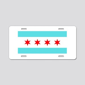 Chicago Flag Aluminum License Plate