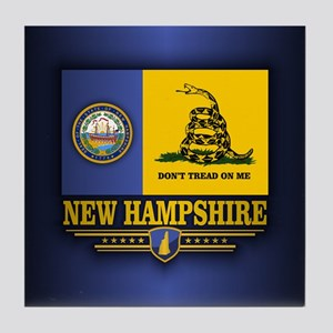 New Hampshire Gadsden Flag Tile Coaster