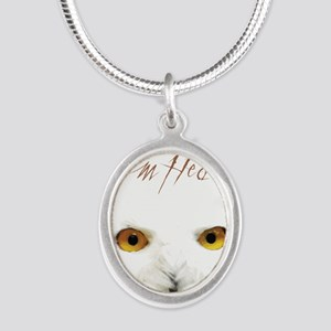 Team Hedwig Silver Oval Necklace