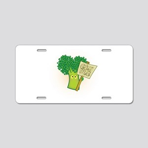 """Eat Me!"" Vegetarian Aluminum License Plate"