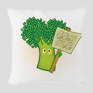 """Eat Me!"" Vegetarian Woven Throw Pillow"