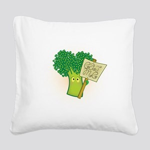 """Eat Me!"" Vegetarian Square Canvas Pillow"