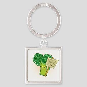 """Eat Me!"" Vegetarian Square Keychain"