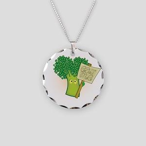 """Eat Me!"" Vegetarian Necklace Circle Charm"