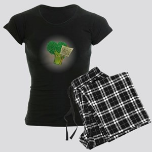 """Eat Me!"" Vegetarian Women's Dark Pajamas"