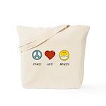 Peace.Love.Braces Tote Bag