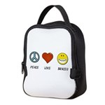 Peace.Love.Braces Neoprene Lunch Bag