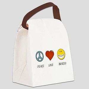 Peace.Love.Braces Canvas Lunch Bag