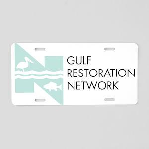 Gulf Restoration Network Aluminum License Plate