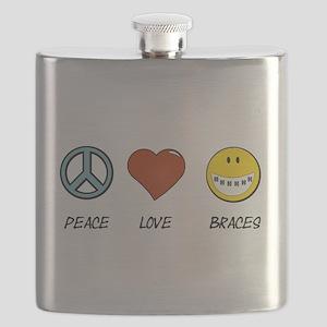 Peace.Love.Braces Flask