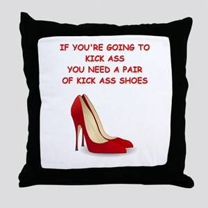 red high heels Throw Pillow